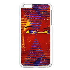 Conundrum Iii, Abstract Purple & Orange Goddess Apple Iphone 6 Plus/6s Plus Enamel White Case by DianeClancy