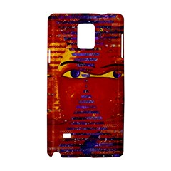 Conundrum Iii, Abstract Purple & Orange Goddess Samsung Galaxy Note 4 Hardshell Case by DianeClancy