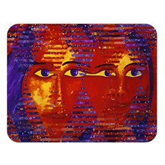 Conundrum Iii, Abstract Purple & Orange Goddess Double Sided Flano Blanket (large)  by DianeClancy