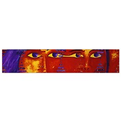 Conundrum Iii, Abstract Purple & Orange Goddess Flano Scarf (small) by DianeClancy