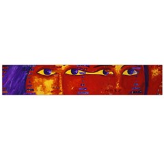 Conundrum Iii, Abstract Purple & Orange Goddess Flano Scarf (large) by DianeClancy