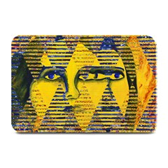 Conundrum Ii, Abstract Golden & Sapphire Goddess Plate Mats by DianeClancy