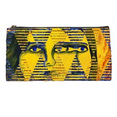 Conundrum Ii, Abstract Golden & Sapphire Goddess Pencil Cases by DianeClancy