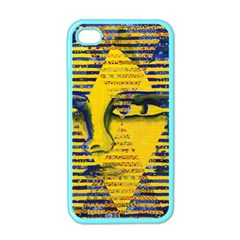Conundrum Ii, Abstract Golden & Sapphire Goddess Apple Iphone 4 Case (color) by DianeClancy
