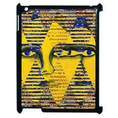 Conundrum Ii, Abstract Golden & Sapphire Goddess Apple Ipad 2 Case (black) by DianeClancy