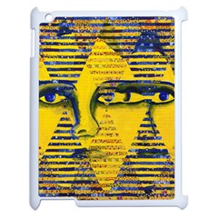 Conundrum Ii, Abstract Golden & Sapphire Goddess Apple Ipad 2 Case (white) by DianeClancy