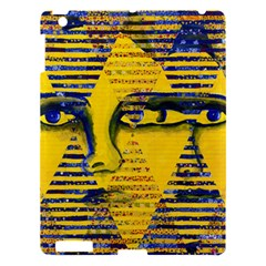 Conundrum Ii, Abstract Golden & Sapphire Goddess Apple Ipad 3/4 Hardshell Case by DianeClancy