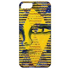 Conundrum Ii, Abstract Golden & Sapphire Goddess Apple Iphone 5 Classic Hardshell Case by DianeClancy