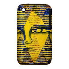 Conundrum Ii, Abstract Golden & Sapphire Goddess Apple Iphone 3g/3gs Hardshell Case (pc+silicone) by DianeClancy