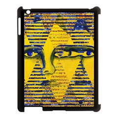 Conundrum Ii, Abstract Golden & Sapphire Goddess Apple Ipad 3/4 Case (black) by DianeClancy