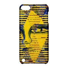 Conundrum Ii, Abstract Golden & Sapphire Goddess Apple Ipod Touch 5 Hardshell Case With Stand by DianeClancy