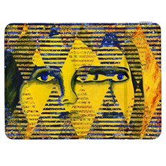 Conundrum Ii, Abstract Golden & Sapphire Goddess Samsung Galaxy Tab 7  P1000 Flip Case by DianeClancy
