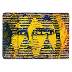 Conundrum Ii, Abstract Golden & Sapphire Goddess Samsung Galaxy Tab 8 9  P7300 Flip Case by DianeClancy