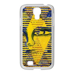 Conundrum Ii, Abstract Golden & Sapphire Goddess Samsung Galaxy S4 I9500/ I9505 Case (white) by DianeClancy