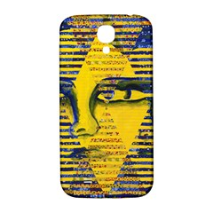Conundrum Ii, Abstract Golden & Sapphire Goddess Samsung Galaxy S4 I9500/i9505  Hardshell Back Case by DianeClancy
