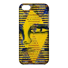 Conundrum Ii, Abstract Golden & Sapphire Goddess Apple Iphone 5c Hardshell Case by DianeClancy
