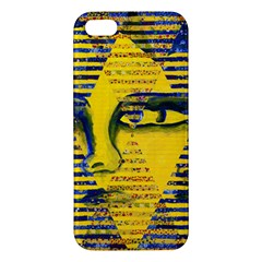 Conundrum Ii, Abstract Golden & Sapphire Goddess Iphone 5s/ Se Premium Hardshell Case by DianeClancy