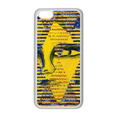 Conundrum Ii, Abstract Golden & Sapphire Goddess Apple Iphone 5c Seamless Case (white) by DianeClancy