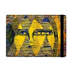 Conundrum Ii, Abstract Golden & Sapphire Goddess Ipad Mini 2 Flip Cases by DianeClancy