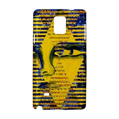 Conundrum Ii, Abstract Golden & Sapphire Goddess Samsung Galaxy Note 4 Hardshell Case by DianeClancy