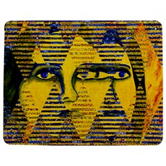 Conundrum Ii, Abstract Golden & Sapphire Goddess Jigsaw Puzzle Photo Stand (rectangular) by DianeClancy