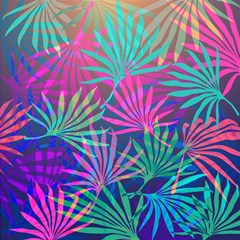 Colored Palm Leaves Background Magic Photo Cubes by TastefulDesigns