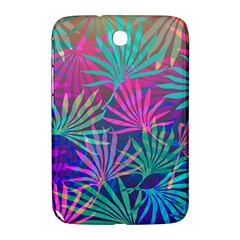 Colored Palm Leaves Background Samsung Galaxy Note 8 0 N5100 Hardshell Case  by TastefulDesigns