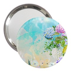 Watercolor Fresh Flowery Background 3  Handbag Mirrors by TastefulDesigns