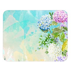 Watercolor Fresh Flowery Background Double Sided Flano Blanket (large)