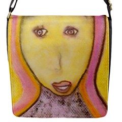Portrait Of Archangel Michael, Spiritual Chalks Drawing Flap Messenger Bag (s) by yoursparklingshop