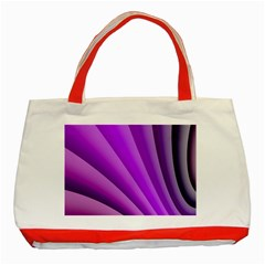 Gentle Folds Of Purple Classic Tote Bag (red) by FunWithFibro