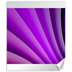 Gentle Folds Of Purple Canvas 8  X 10  by FunWithFibro