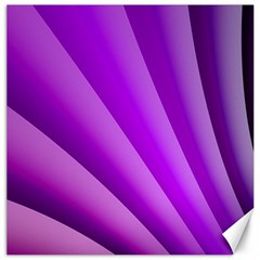 Gentle Folds Of Purple Canvas 20  X 20   by FunWithFibro