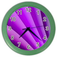 Gentle Folds Of Purple Color Wall Clocks by FunWithFibro