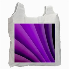 Gentle Folds Of Purple Recycle Bag (one Side) by FunWithFibro