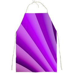 Gentle Folds Of Purple Full Print Aprons by FunWithFibro