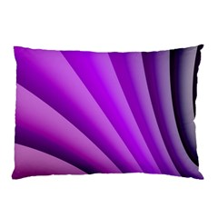 Gentle Folds Of Purple Pillow Case (two Sides)