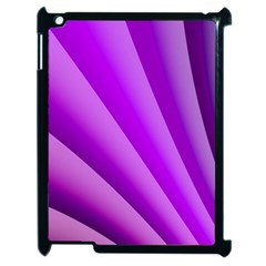Gentle Folds Of Purple Apple Ipad 2 Case (black) by FunWithFibro