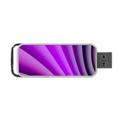 Gentle Folds Of Purple Portable Usb Flash (one Side)