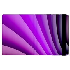 Gentle Folds Of Purple Apple Ipad 3/4 Flip Case by FunWithFibro