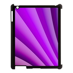 Gentle Folds Of Purple Apple Ipad 3/4 Case (black) by FunWithFibro