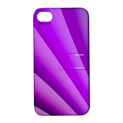 Gentle Folds Of Purple Apple Iphone 4/4s Hardshell Case With Stand by FunWithFibro
