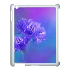 Purple Cornflower Floral  Apple Ipad 3/4 Case (white) by yoursparklingshop