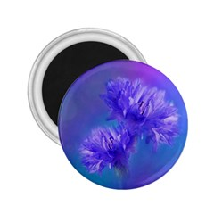 Flowers Cornflower Floral Chic Stylish Purple  2 25  Magnets by yoursparklingshop