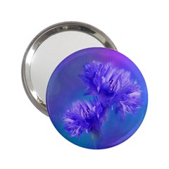 Flowers Cornflower Floral Chic Stylish Purple  2 25  Handbag Mirrors by yoursparklingshop
