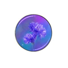 Flowers Cornflower Floral Chic Stylish Purple  Hat Clip Ball Marker by yoursparklingshop