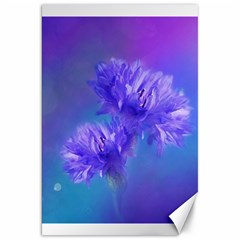 Flowers Cornflower Floral Chic Stylish Purple  Canvas 20  X 30   by yoursparklingshop