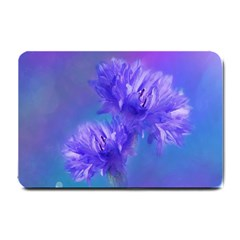 Flowers Cornflower Floral Chic Stylish Purple  Small Doormat  by yoursparklingshop