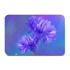 Flowers Cornflower Floral Chic Stylish Purple  Plate Mats by yoursparklingshop