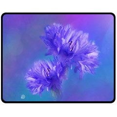 Flowers Cornflower Floral Chic Stylish Purple  Fleece Blanket (medium)